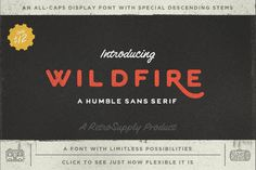[NEW] Get WildFire – The First Official Font from RetroSupply for Just $15 I'm excited to announce the first official RetroSupply Co font! At the end of 2014 I polled over 1000 RetroSupply