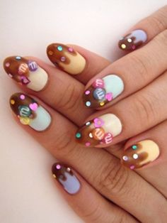 17 Best Candy Nail Art Images On Pinterest Beauty Nails Cute