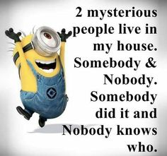 Somebody and nobody