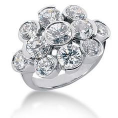 "Check out this fantastic ""bubble"" ring. What a fun design! Diamond Anniversary Bands, Anniversary Rings, Diamond Girl, Bezel Ring, Right Hand Rings, Cocktail Rings, Fashion Rings, White Gold, Engagement Rings"