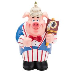Washington Redskins Piggy Bank Caricature Style