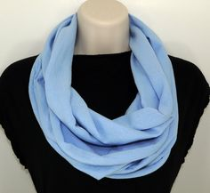 Infinity Scarf Light Blue Free Shipping by ForgottenCotton on Etsy, $20.00