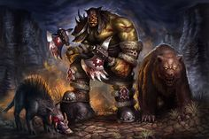 Rexxar by ~Nimao on deviantART - World of Warcraft World Of Warcraft, Art Warcraft, High Fantasy, Fantasy World, Magic Realms, For The Horde, Heroes Of The Storm, Fictional World, D D Characters