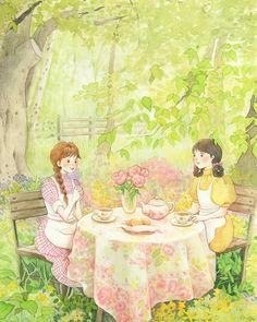 Image may contain: outdoor Kawaii Anime Girl, Anime Art Girl, Manga Art, Cartoon Art, Cute Cartoon, Japanese Drawings, Anime Scenery, Before Us, Illustrations