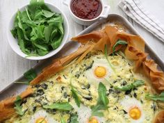Sunday Brunch - Articles - Spinach and Feta Tart Recipe  - All 4