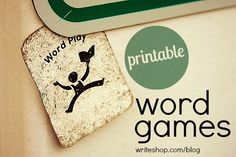 Printable Word Games for family fun!