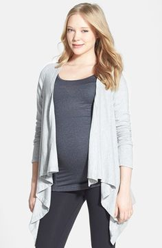 Beyond Yoga Drape Front Maternity Cardigan available at #Nordstrom