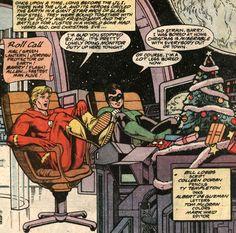 Hal Jordan (Green Lantern) and Barry Allen (Flash) DC Comics X-mas