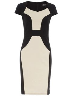 Black contrast pencil dress