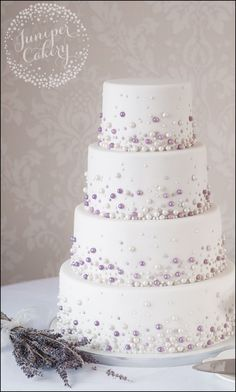 Wedding Cakes Lilac and Silver