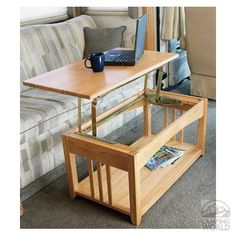 Swing-up Coffee Table - Intersource Enterprises D17-194 - Tables - Camping World