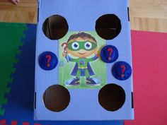 East Coast Mommy: BEAN BAG TOSS -- the Super Why way!