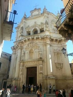 Lecce, Puglia - Church of San Matteo (Saint Mathew) #Baroque - as you can tell from the undulating facade shape - It was built in the second half of the seventeenth century , on the designs of Giovanni Andrea Larducci Salo (nephew of Francesco Borromini).