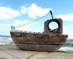 Driftwood Boat III by kate-arthur