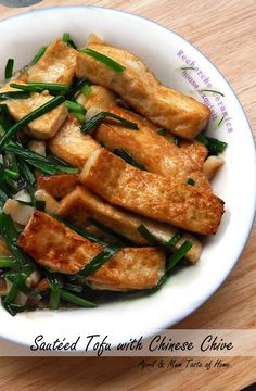 Sautéed Chinese Chive with Tofu | Light delight with extra rich taste, juicy freshness and scents #healthy #skinny