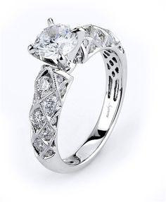18k white gold and diamond (0.93ct) semi mounting