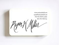 A business card stamp!  great idea, and beautifully made.