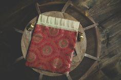 Indian Sari Fabric Tassel Bollywood Brocade Silk Gift Party Bags Deep Red Gold Medallion Favor Wedding Pouch Jewelry Potli Zari Thread Bag - $3.00
