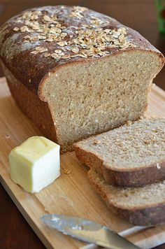 Whole Wheat Oatmeal Bread by Pennies on a Platter, via Flickr