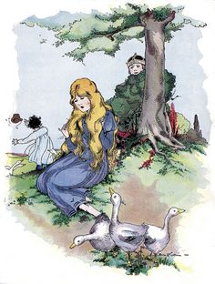"The Goose Girl, from the 1920s children's book ""Famous Fairy Tales""."