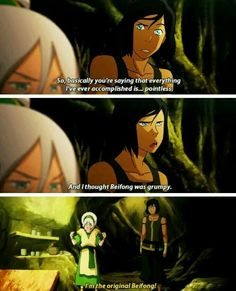 Toph needs to be reunited with her daughters! Avatar Ang, The Last Avatar, Avatar Funny, Avatar The Last Airbender Art, Korra Avatar, Team Avatar, Avatar Series, Korrasami, Fire Nation
