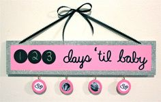 Items similar to Pregnancy Countdown Calendar on Etsy 3rd Baby, Baby Love, Baby Kids, Pregnancy Countdown, Countdown Calendar, Baby Planning, Future Baby, Little Ones, Sorting Hat