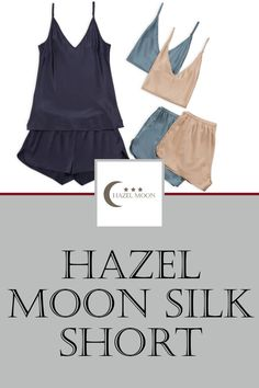 This silk short has a beautiful fit and drape.Our silk short is 92% silk and 8% Spandex.Fabric weight is 22 momme Mulberry Charmeuse Silk.  Very high quality silk.  See and compare.The silk fibers are dyed with AZO free dye (healthier for you and the environment). #HazelMoon #LuxuryLoungewear Comfy Fall Outfits, Spring Outfits, Winter Outfits, Cute Sleepwear, Loungewear, Comfy Dresses, Silk Shorts, Spandex Fabric, Environment