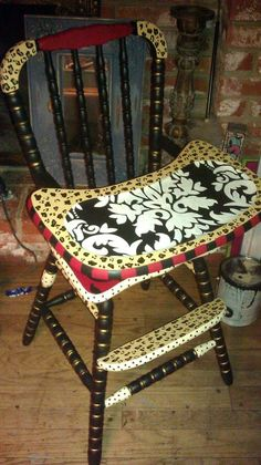 Hand Painted Furniture ~ highchair