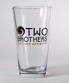 This is a used Two Brothers Artisan Brewing pint glass. It is in great condition with no chips or scratches. The screen printing has nothing missing. It is like new.   eBay!