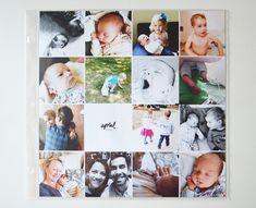 project life baby album  by greenfingerprint | collage template by paislee press