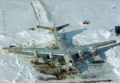 A Russian Air Force Tu-95 Bear  bomber in a winters day.