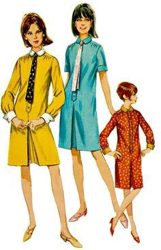 60s MOD Dress Pattern 1966 Dress with Front by ShellMakeYouFlip