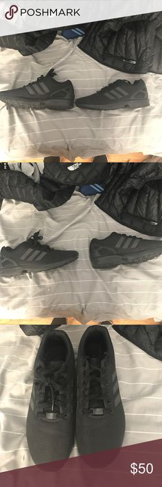 Adidas ZX Flux All black adidas Zac flux. Barely worn. 9.5/10 condition. Comes with original box Adidas Shoes Athletic Shoes