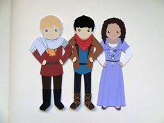 Merlin Bookmark Set: Merlin, Arthur & Gwen. £6.00, via Etsy.