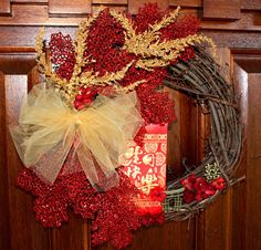Search Results › MeiFaithStudio › Chinese Wreaths  Favorite  Like this item?  Add it to your favorites to revisit it later.  Wreath Chinese New Year Lunar New Year Spring Festival Celebration Original by Mei Faith
