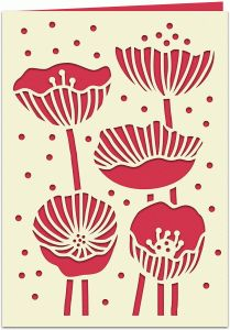 Silhouette Design Store - View Design #76354: poppies papercut 7x5 card