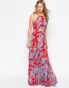 ASOS | ASOS Paisley Cut Out Maxi Dress at ASOS
