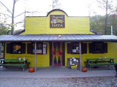 Miguel's Pizza in Slade, KY... great place to go after climbing or camping at Red River Gorge!  You can also camp behind the pizzeria :)
