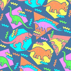 90's Dinosaur Pattern | Flickr - Photo Sharing!