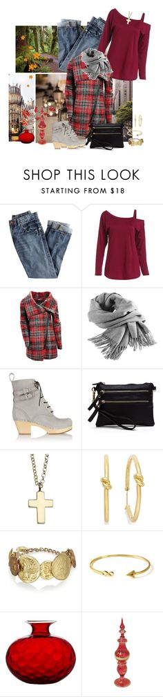 """""""Romwe Cold Shoulder Tee/J.Crew Jeans"""" by skpg ❤ liked on Polyvore featuring J.Crew, Steve Madden, Filippa K, Swedish Hasbeens, Kate Spade, Dolce&Gabbana, Venini and Pyrex"""