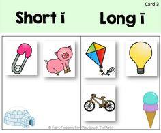 FREE Short and Long Vowel Sort - Playdough to Plato