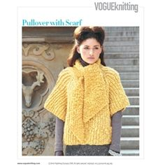 PULLOVER WITH SCARF pattern design by Cathy Carron $6.00