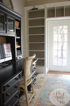 "create ""built-in"" bookshelves to go over/around that odd shaped doorway in the master?"