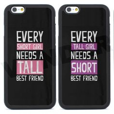 8926c54a8b1 2pcs Best Friend Tall/Short Girls Couple Case for Iphone 6 6s 4S 5S SE