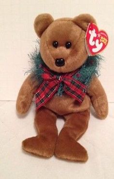 Beanie Babies TY Hollydays Bear Christmas Collectible Holiday Gift Retired 08ee9b7b3766