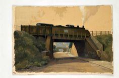 Lifford Lane Kings Norton, Birmingham - watercolour by Arthur Lockwood.