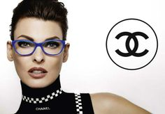 Chanel 2012 eyewear ad campaign with Linda Evangelista