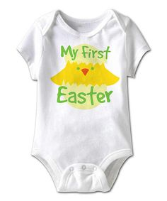 Loving this White 'My First Easter' Bodysuit - Infant on #zulily! #zulilyfinds