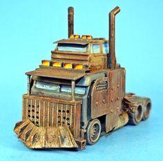 Hot Wheels Mad Max War Rig conversion by billking.deviantart.com on @DeviantArt