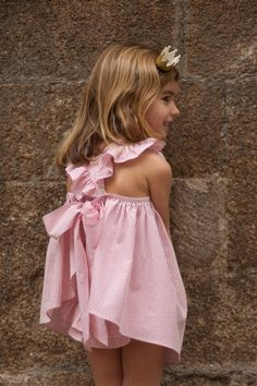 Pinafore dressApron with panties by PetiteBellaaa on Etsy Little Girl Models, Little Girl Fashion, Little Girl Dresses, Flower Girl Dresses, Little Fashionista, Tween Fashion, Toddler Fashion, Kids Outfits, Cute Outfits